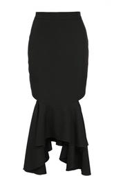 Юбка асимметричного кроя с вырезами Givenchy