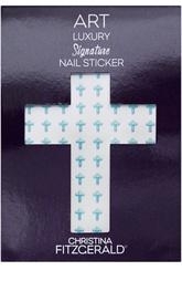 """Наклейка для ногтей """"Синий крестик"""" (96 шт) Christina Fitzgerald"""