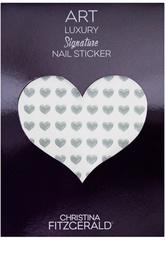 """Наклейки для ногтей """"Серое сердечко"""" (96 шт) Christina Fitzgerald"""