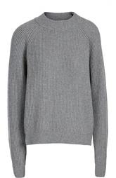Шерстяной пуловер фактурной вязки с круглым вырезом Erika Cavallini