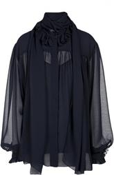 Полупрозрачная блуза своодного кроя с воротником-аскот See by Chloé