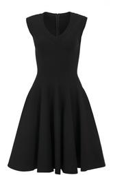 Приталенное платье с V-образым вырезом Alaia