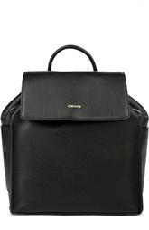Кожаный рюкзак с логотипом бренда DKNY