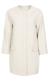 Пальто прямого кроя с круглым вырезом и карманами HUGO BOSS Black Label