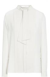 Блуза прямого кроя с планкой и воротником-аскот HUGO BOSS Black Label