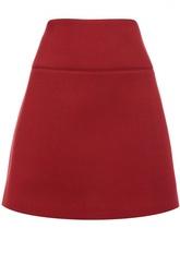 Мини-юбка А-силуэта с декоративной прострочкой REDVALENTINO