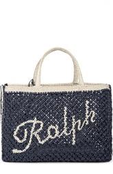 Сумка-тоут из рафии с косметичкой Ralph Lauren