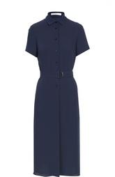 Платье-рубашка с поясом HUGO BOSS Black Label