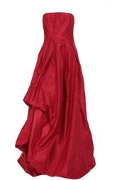 Платье в пол асимметричного кроя с удлиненным подолом Oscar de la Renta