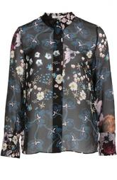 Шелковая блуза с воротником-стойкой и цветочным принтом Dorothee Schumacher