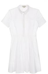Приталенное платье-рубашка с перфорацией Burberry