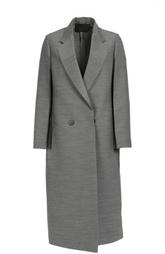 Удлиненное двубортное пальто прямого кроя с карманами Calvin Klein Collection