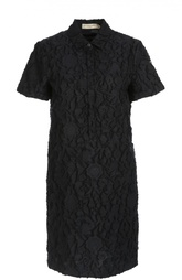 Хлопковое кружевное платье-рубашка Burberry
