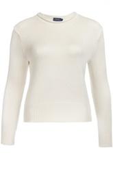 Шелковый вязаный пуловер с круглым вырезом Polo Ralph Lauren