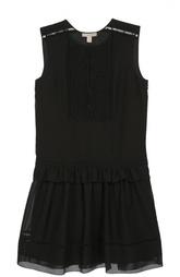 Приталенное мини-платье с кружевной вставкой Burberry Brit