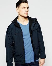 Стеганая водонепроницаемая куртка с капюшоном Farah - Черный