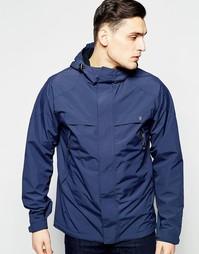 Стеганая водонепроницаемая куртка с капюшоном Farah - Темно-синий