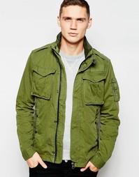 Зеленая рубашка-куртка G-Star Rovic - Шалфей