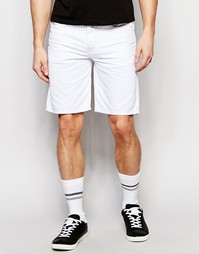 Белые джинсовые шорты прямого кроя Diesel Bustshort - Белый