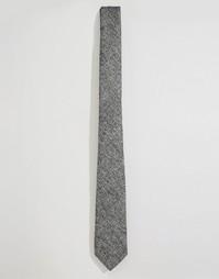 Серый узкий галстук в крапинку ASOS - Серый