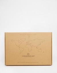 Пробковая карта мира Luckies - Мульти Gifts