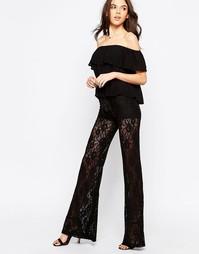 Кружевные расклешенные брюки Winston White Rosanna - Черный