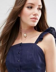 Кружевное ожерелье-чокер ограниченной серии - Золотой Asos