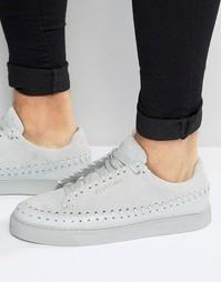 Замшевые кроссовки-мокасины Religion - Серый