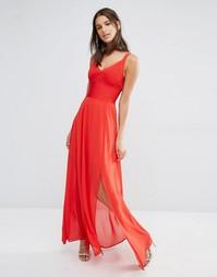 Бандажное платье макси на бретельках Missguided Premium - Красный