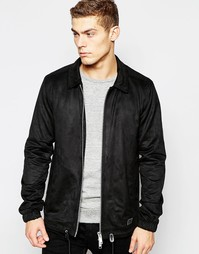 Куртка из искусственной замши Brixtol - Черный