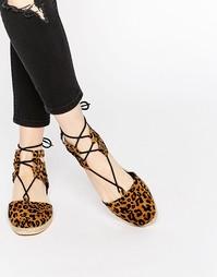 Эспадрильи со шнуровкой ASOS JESSICA - Leopard