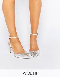 Туфли на каблуке для широкой стопы ASOS SOCIETY - Серебряный