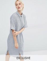 Платье-рубашка миди Minimum Anshu - Темный синий