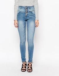 Зауженные джинсы с высокой талией Lost Ink - Indigo - индиго