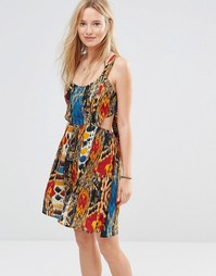 Пляжное платье с открытой спиной и принтом Anmol - Мульти
