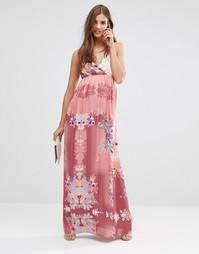 Платье макси с цветочным принтом Lavand - Розовый