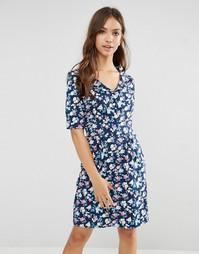 Платье с цветочным принтом Trollied Dolly Time For Tea - Темно-синий
