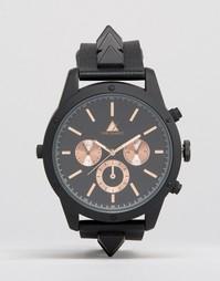 Черные часы с заклепками на ремешке ASOS - Черный