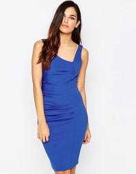 Асимметричное платье-футляр Jessica Wright Verity - Синий