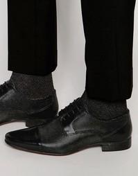 Черные туфли дерби из фактурной кожи ASOS - Черный