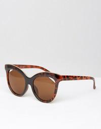 Солнцезащитные очки кошачий глаз со срезанными стеклами ASOS
