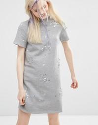 Трикотажное платье ASOS - Серый