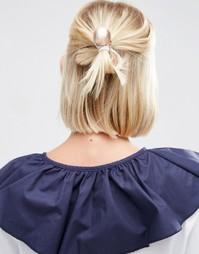 Резинка для волос с шариком ASOS - Кремовый