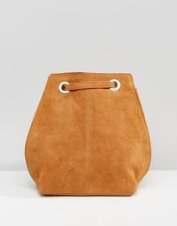 Замшевый рюкзак с люверсами ASOS - Рыжий