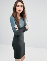 Облегающее платье с эффектом выцветания Religion Stroke - Черный