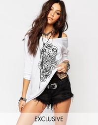 Oversize платье‑футболка с принтом Noisy May X Bloody Noisy Lucy