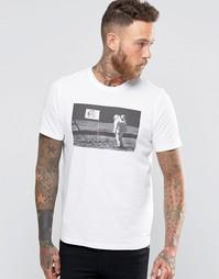 Белая футболка с принтом Человек на Луне Paul Smith - Белый