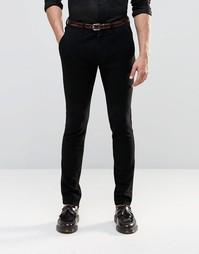 Супероблегающие трикотажные брюки строгого кроя с атласной вставкой AS Asos