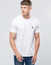 Белая футболка с принтом в квадратный горошек Lyle & Scott - Белый