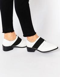 Туфли на плоской подошве с эластичной вставкой ASOS MIX IT UP - Белый